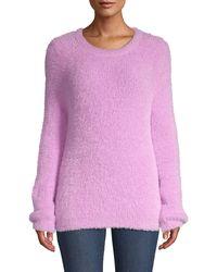 Kate Spade Fuzzy Knit Jumper - Purple