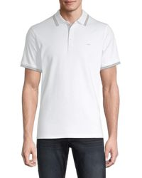 Michael Kors Men's Greenwich Tipped Polo - Midnight - Size S - Blue