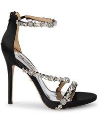 Badgley Mischka Quest Embellished Sandals - Black