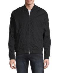 John Varvatos Embellished Cotton-blend Bomber Jacket - Black