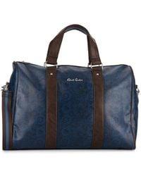 Robert Graham Paisley-print Faux Leather Duffle Bag - Blue