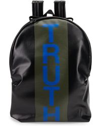Alexander McQueen - Truth Striped Canvas Backpack - Lyst