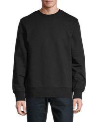 Y-3 Men's Logo Crewneck Sweatshirt - Black Silver - Size Xl