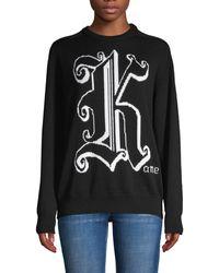 Christopher Kane Graphic Wool Jumper - Black