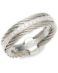 Alor Women's 18k White Gold, Two-tone Stainless Steel & Diamond Ring/size 7 - Size 7 - Metallic