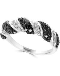 Effy - 14k White Gold, Black & White Diamond Ring - Lyst