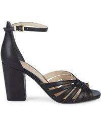 Seychelles Ankle-strap Leather Sandals - Black