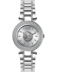 Versus Stainless Steel & Swarovski Crystal Bracelet Watch - Grey