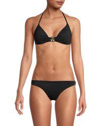 Love Moschino Tie-back Bikini Top - Black