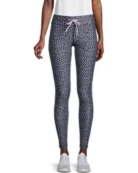 The Upside Butterfly Printed Pants - Black