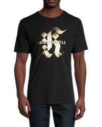 Karl Lagerfeld Men's Gothic Foil Logo T-shirt - White - Size L