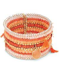 Panacea - Beaded Tassel Cuff Bracelet - Lyst