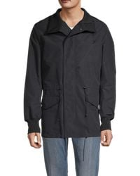 Yohji Yamamoto Men's Cotton-blend Hooded Jacket - Black - Size S