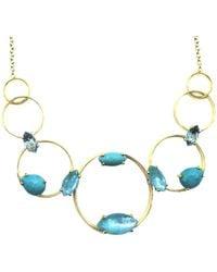 Saachi Crystal Lariat Necklace - Multicolor