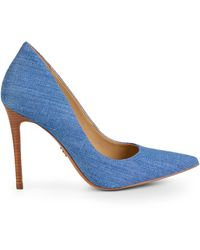 Michael Kors Keke Denim Stiletto Pumps - Blue