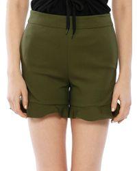 Walter Baker Lillian High-waist Shorts - Green