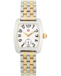 Michele Logo Seven-link Stainless Steel Bracelet Watch - Metallic
