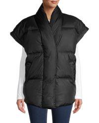 FRAME Puffer Vest Jacket - Black