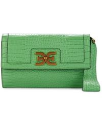 Sam Edelman Women's Dottie Leather Wristlet - Summer Green