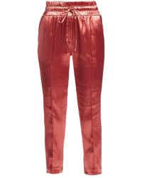 Cinq À Sept Women's Adelie Satin Joggers - Rosewood - Size Xl - Red