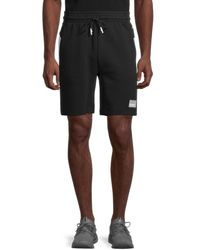 PUMA Men's Drawstring Slim-fit Cotton Shorts - Black - Size Xl