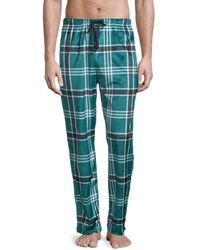 Original Penguin Printed Fleece Pyjama Trousers - Multicolour