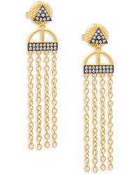 Freida Rothman - Indigo Armour Fringe Earrings - Lyst