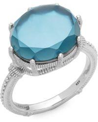 Judith Ripka - Blue Topaz Solitaire Ring - Lyst