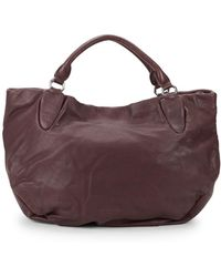 Liebeskind Berlin Classic Leather Hobo Bag - Purple