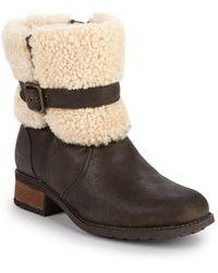 fa51b0f6300 Women's Blayre Ii Shearling Cuff Suede Boots - Brown