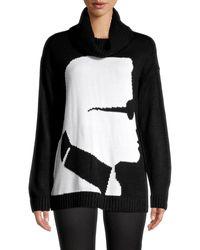 Karl Lagerfeld Karl Silhouette Turtleneck Sweater - Black