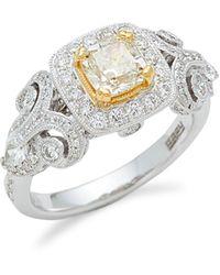 Effy 18k Two-tone Gold & Diamond Ring - Metallic