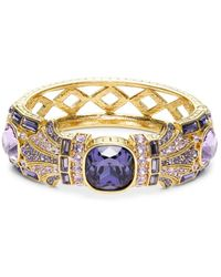 Heidi Daus Women's Goldtone & Crystal Bangle Bracelet - Metallic
