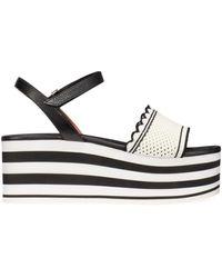 Kate Spade Women's Highrise Spade Platform Wedge Sandals - Pink - Size 5