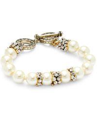 Heidi Daus Women's Goldplated, Faux Pearl & Crystal Bracelet - Metallic