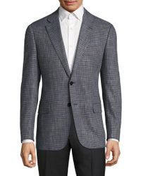 Armani - Textured Virgin Wool Blend Jacket - Lyst