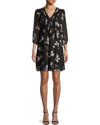 Calvin Klein Floral-print Mini Dress - Black
