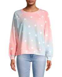 Wildfox Star-print Sweatshirt - Pink