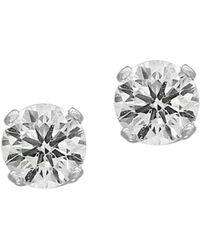 Effy - Women's 14k White Gold & 0.32 Tcw Diamond Stud Earrings - Lyst