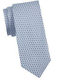 Armani Men's Printed Silk Tie - Light Sky - Blue