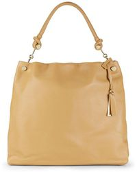 Vince Camuto - Leather & Goldtone Metal Hobo Bag - Lyst
