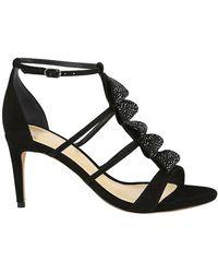 Alexandre Birman New Rainbow 75 Sequin & Suede Sandals - Black
