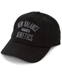 New Balance Men's Logo Cotton Baseball Cap - Black