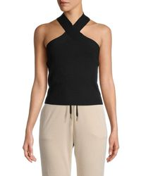 525 America Women's Halterneck Cropped Top - Black - Size M