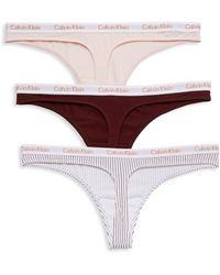 Calvin Klein 3-pack Thong Panties - Multicolour