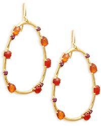 Jocelyn 14k White Gold, Milky Aquamarine & Diamond Necklace - Multicolor