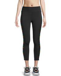 Pam & Gela Striped High-rise Leggings - Black