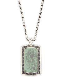 John Hardy - Sterling Silver Rectangle Pendant Necklace - Lyst