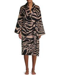 Roberto Cavalli Animal-print Cotton Bath Robe - Black