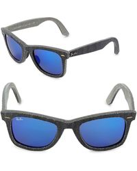a2e48929097 Lyst - Ray-Ban Denim Wayfarer Sunglasses in Black for Men